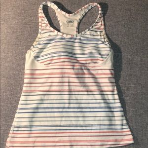 Blue/Red Striped Workout Tank